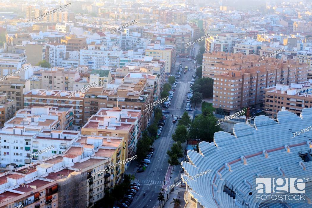 Stock Photo: New Mestalla Stadium, Valencia, Spain.