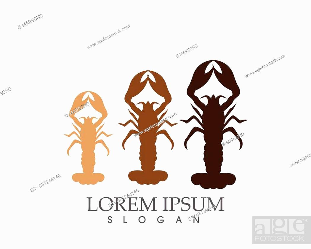Stock Vector: Icon crayfish. Lobster.