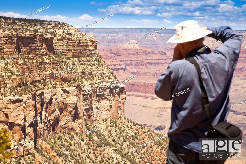 Stock Photo: Photographer Shooting at the Grand Canyon.