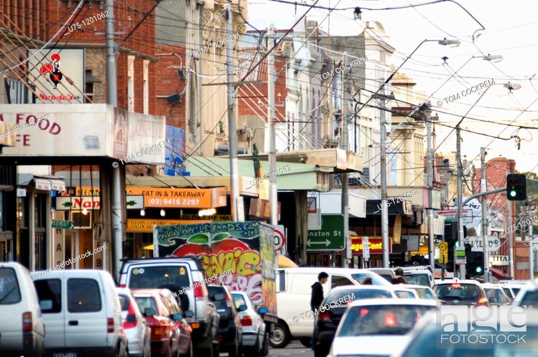 Stock Photo: Smith Street Collingwood, Melbourne, Australia.