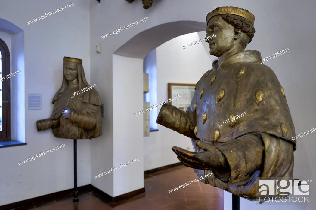Stock Photo: Naples Campania Italy. Santa Chiara Basilica Church. The museum houses information on the history of the church, archaeological findings and materials remaining.