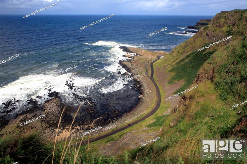 Stock Photo: Causeway Coast, Northern Ireland.