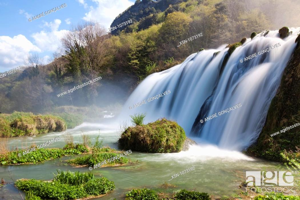 Stock Photo: Marmore Falls, Italy.