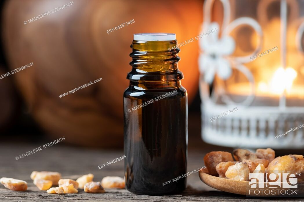 Stock Photo: Styrax benzoin essential oil and resin.
