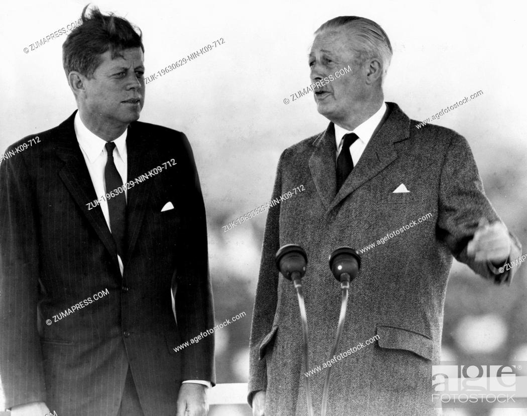 Stock Photo: June 29, 1963 - London, England, U.K. - Born into a rich, politically connected Boston family JOHN F. KENNEDY was the youngest person elected U.S.