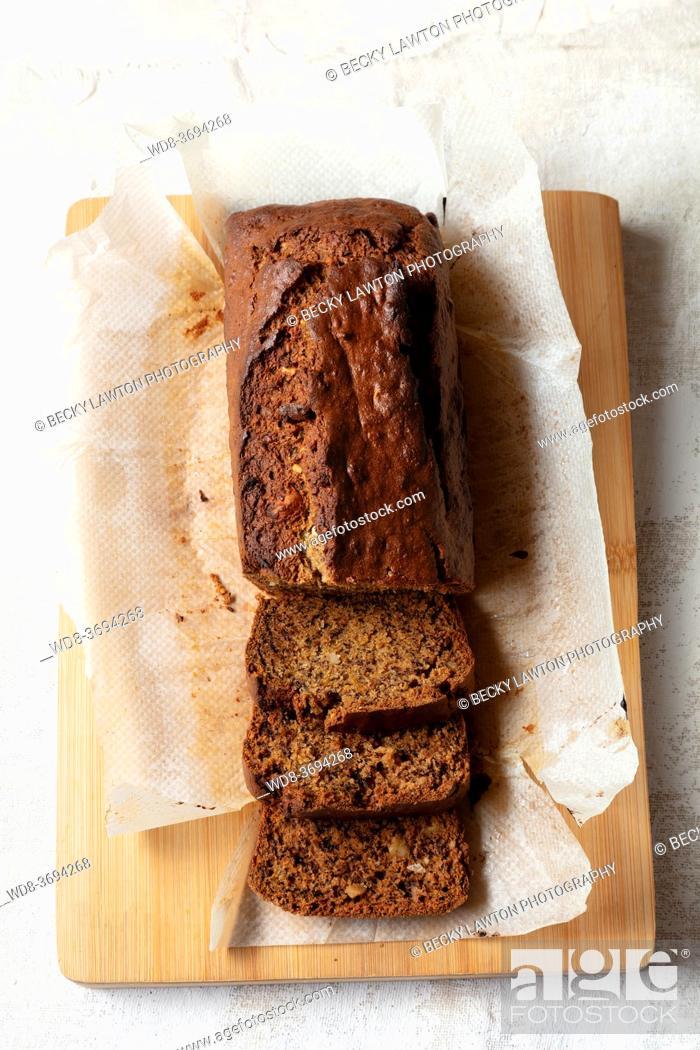 Stock Photo: banaba bread with hazelnuts and lemon and orange zest.