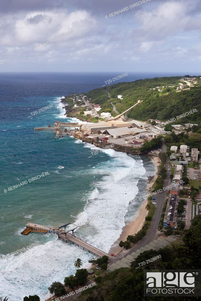 Stock Photo: Over View of Flying Fish Cove, Christmas Island, Australia.