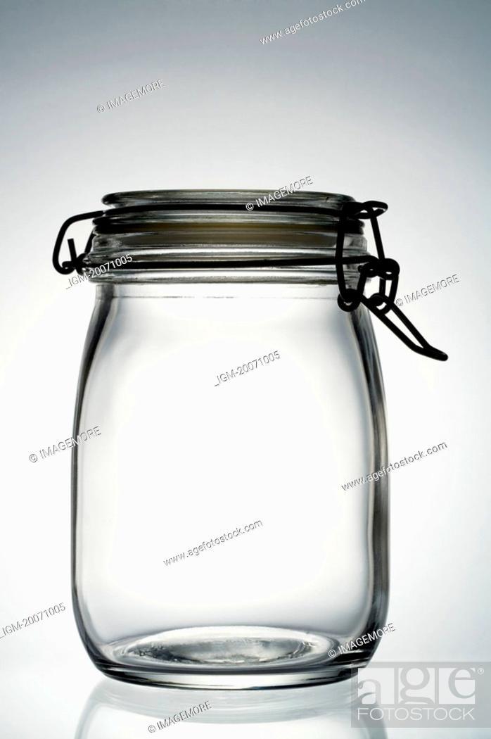Stock Photo: An empty Jar.