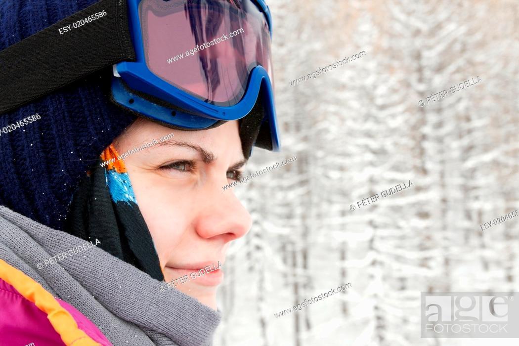 Stock Photo: Skier.