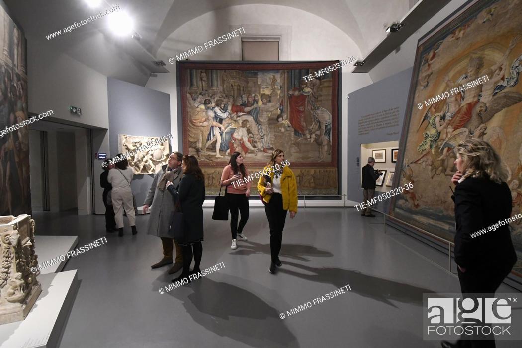 Stock Photo: A view of 'Raffaello 1520 - 1483' exhibition at Scuderie del Quirinale in Rome, ITALY-04-03-2020.