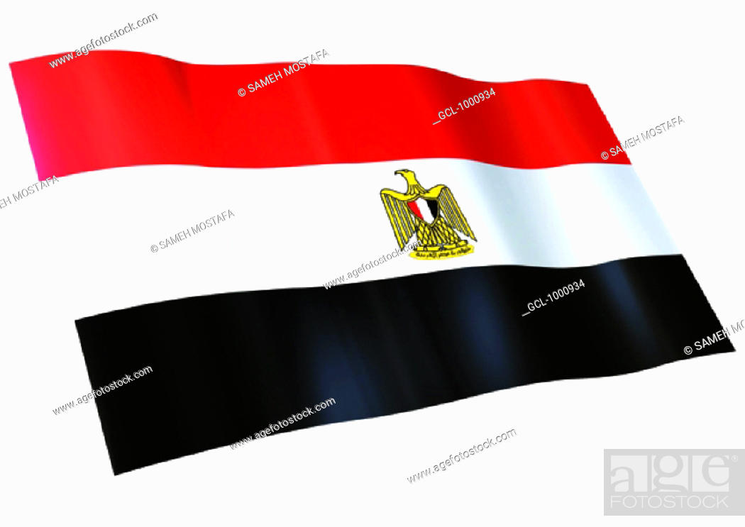 Stock Photo: flag of Egypt.