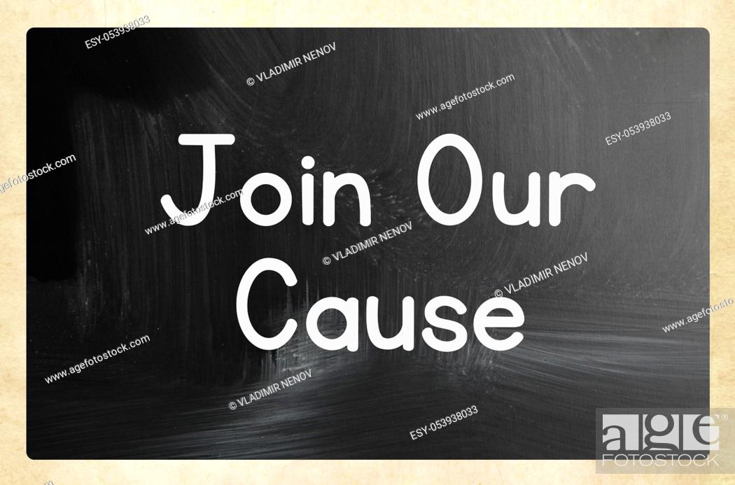 Stock Photo: join our cause concept.