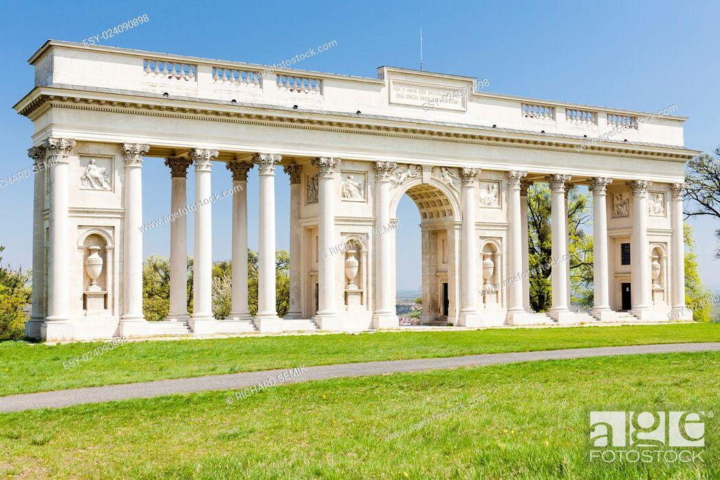 Stock Photo: Colonnade on Reistna, Czech Republic.