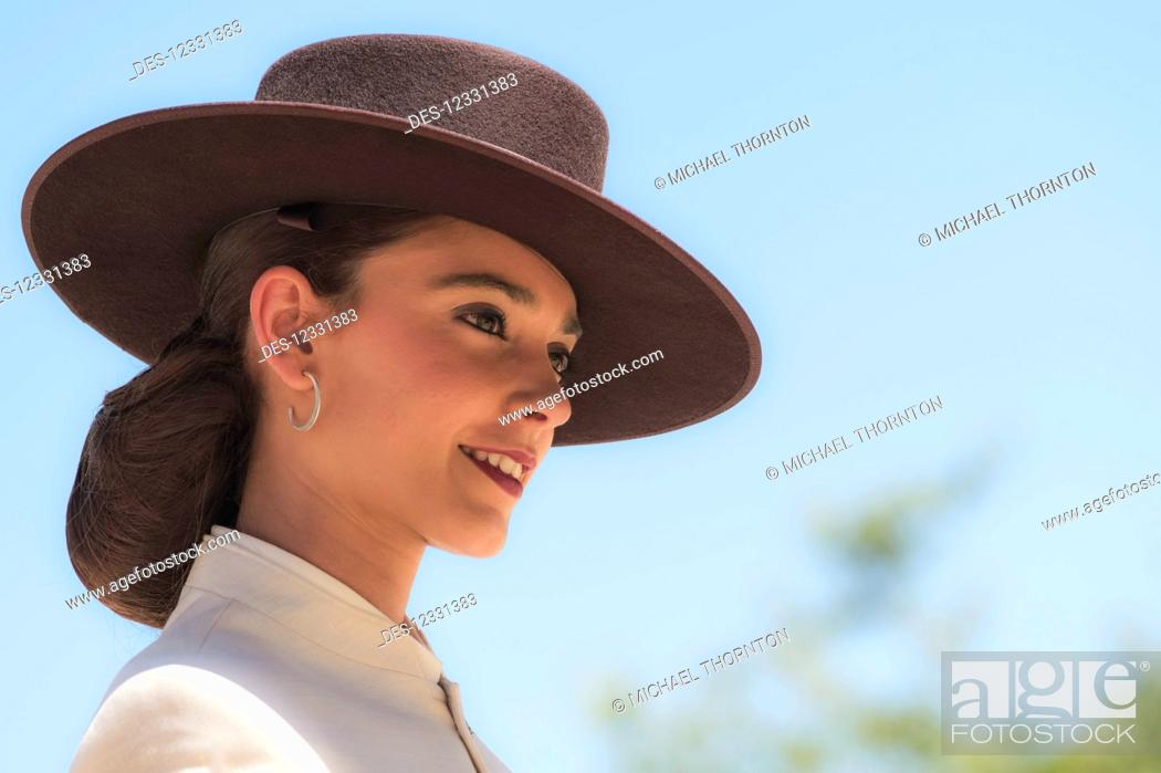 Stock Photo: Rider At The May Horse Fair; Jerez De La Frontera, Cadiz, Andalucia, Spain.