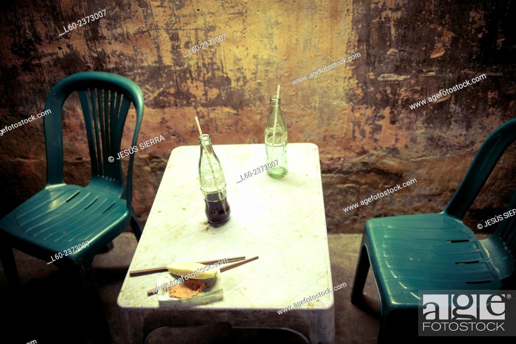 Stock Photo: Street restaurant, Ho Chi Minh, Vietnam.
