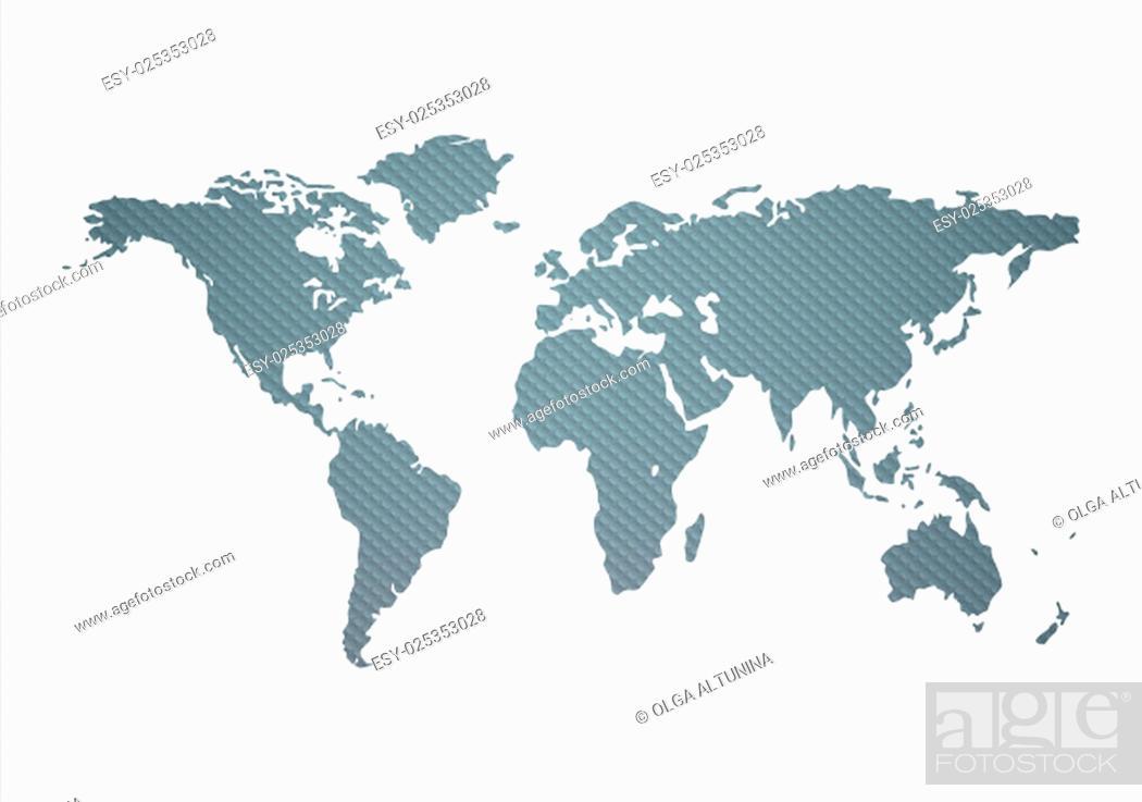 Imagen: Textured World Map On A White Background.