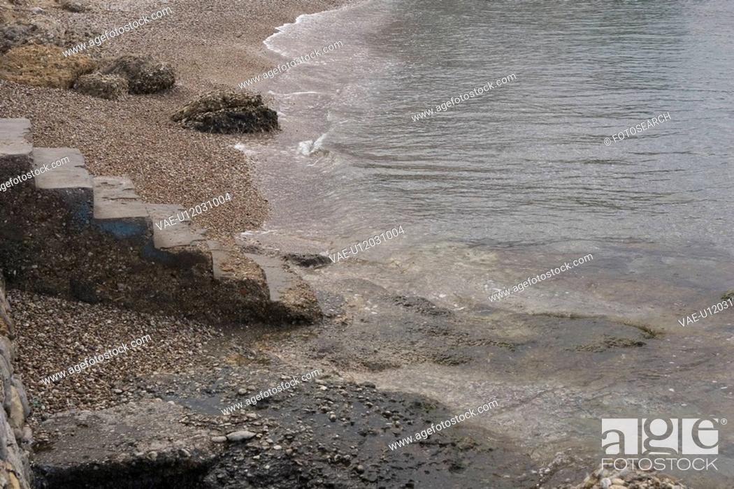 Stock Photo: Beach, Coast, Coastline, Day.