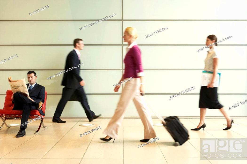 Stock Photo: Busy Office Corridor.