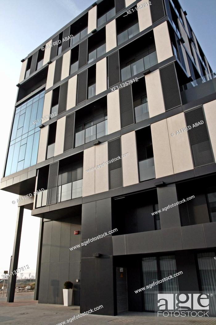 Stock Photo: residence building Vora Mar, Mataro, Catalonia, Spain.