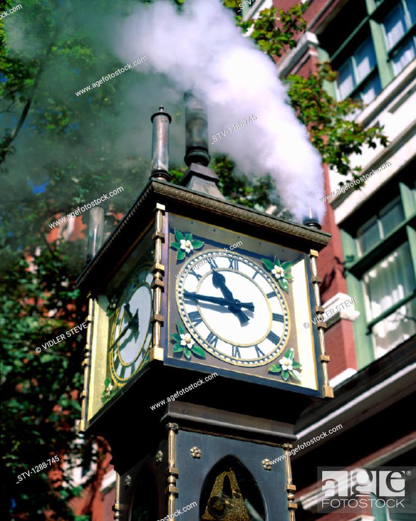Imagen: British, British columbia, Canada, North America, Clock, Columbia, Gastown, Holiday, Landmark, Steam, Time, Tourism, Travel, Vac.