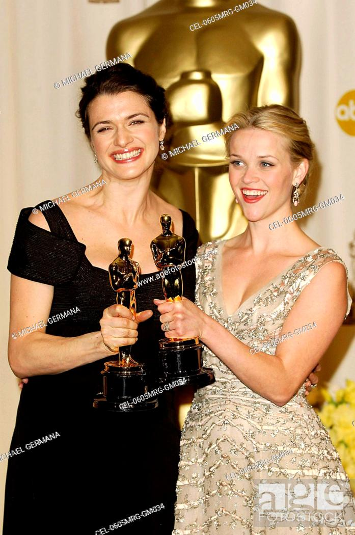 Rachel Weisz Reese Witherspoon In The Press Room For OSCARS 78th