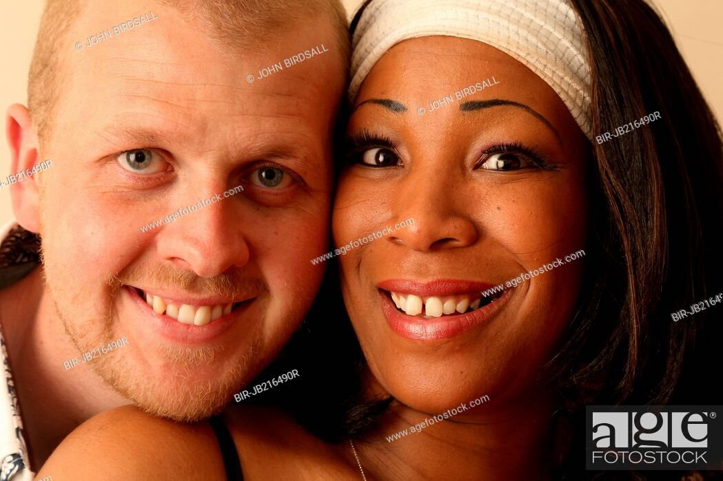 Stock Photo: Mixed race couple, UK MR.