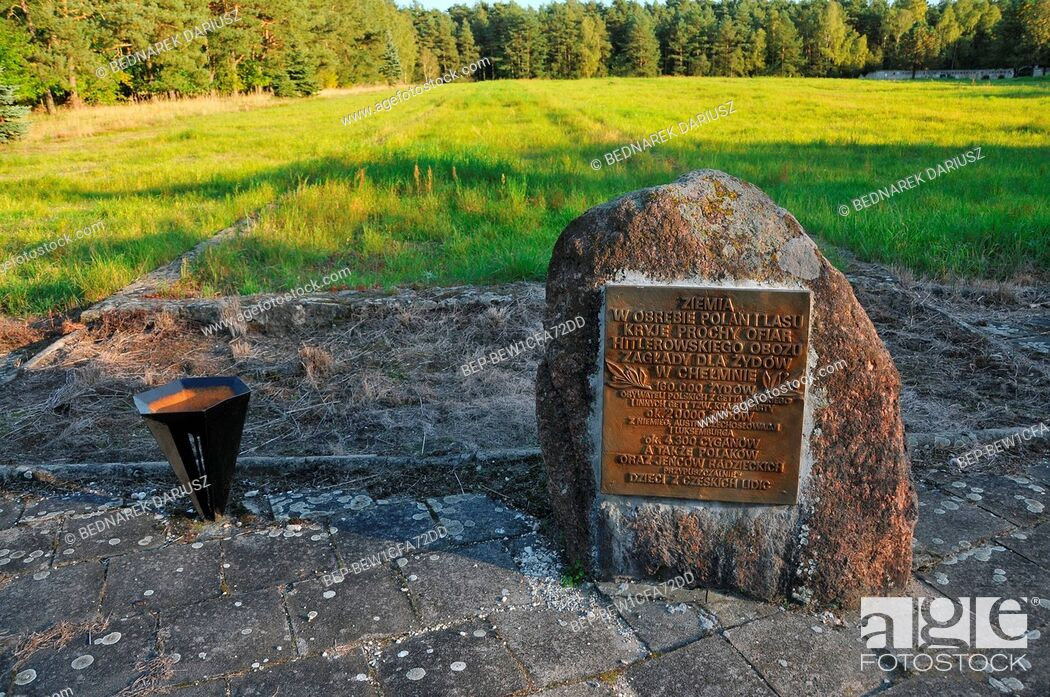 Stock Photo: Chelmno extermination camp (Vernichtungslager Kulmhof), the first of the Nazi German extermination camps, Greater Poland Voivodeship.