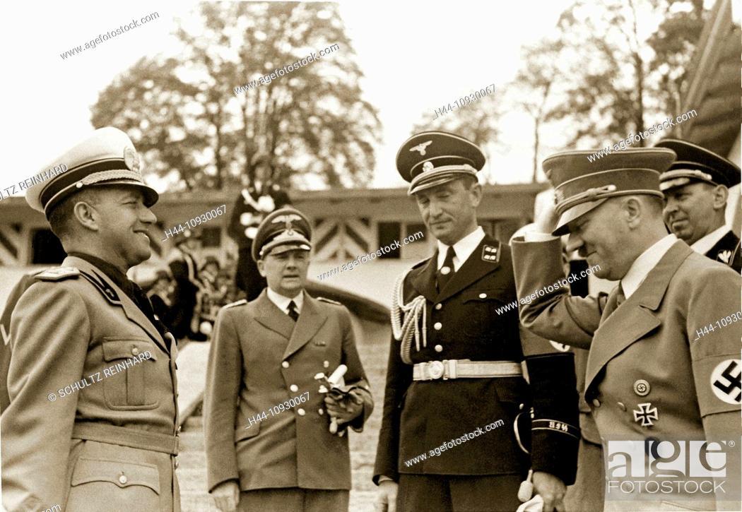 Stock Photo: Kehlsteinhaus, Count Galeazzo Ciano, Italian, Foreign Minister, Adolf Hitler, Ribbentrop, Berghof, interpreter, Paul Schmidt, Berchtesgaden, Germany, 1939.
