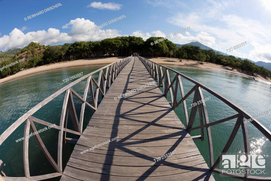 Stock Photo: Pier of Komodo Island, Komodo National Park, Indonesia.