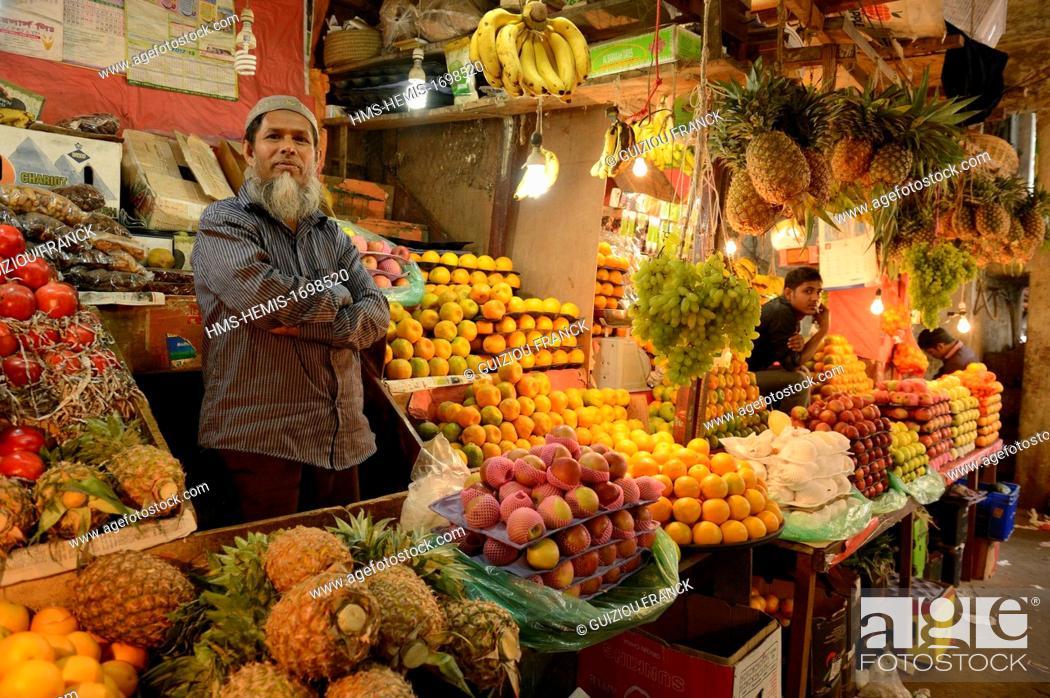 Bangladesh, Dhaka (Dacca), market in Gulshan area, Stock