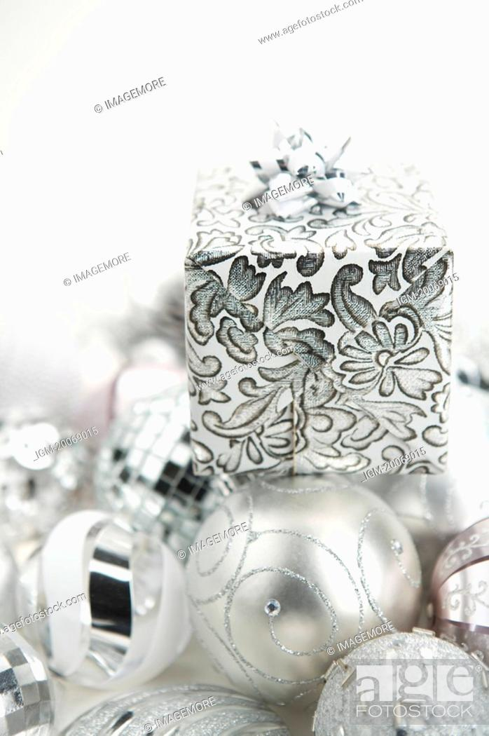 Stock Photo: Gift, Christmas Ornament.
