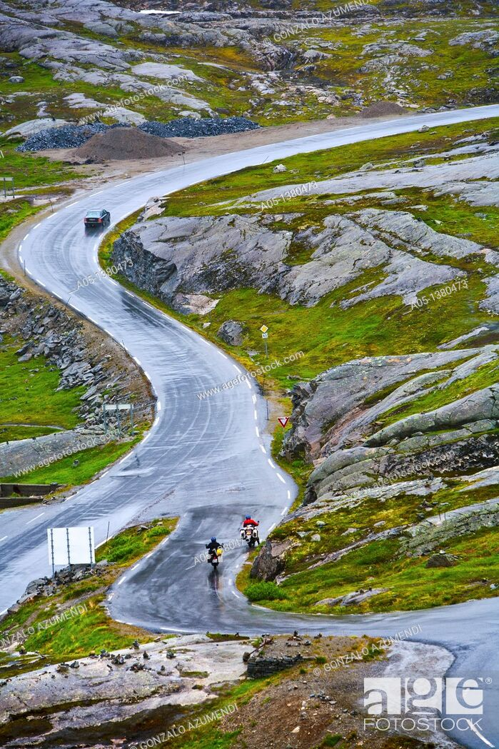 Stock Photo: Road to Dalsnibba Viewpoint, More and Komsdal, Norway.
