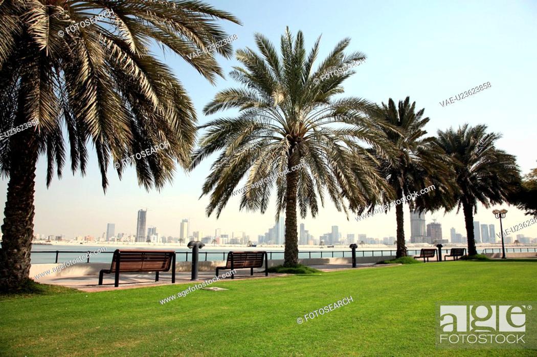 Stock Photo: dubai, mamzar, madina, jumeirah, burj, arab.
