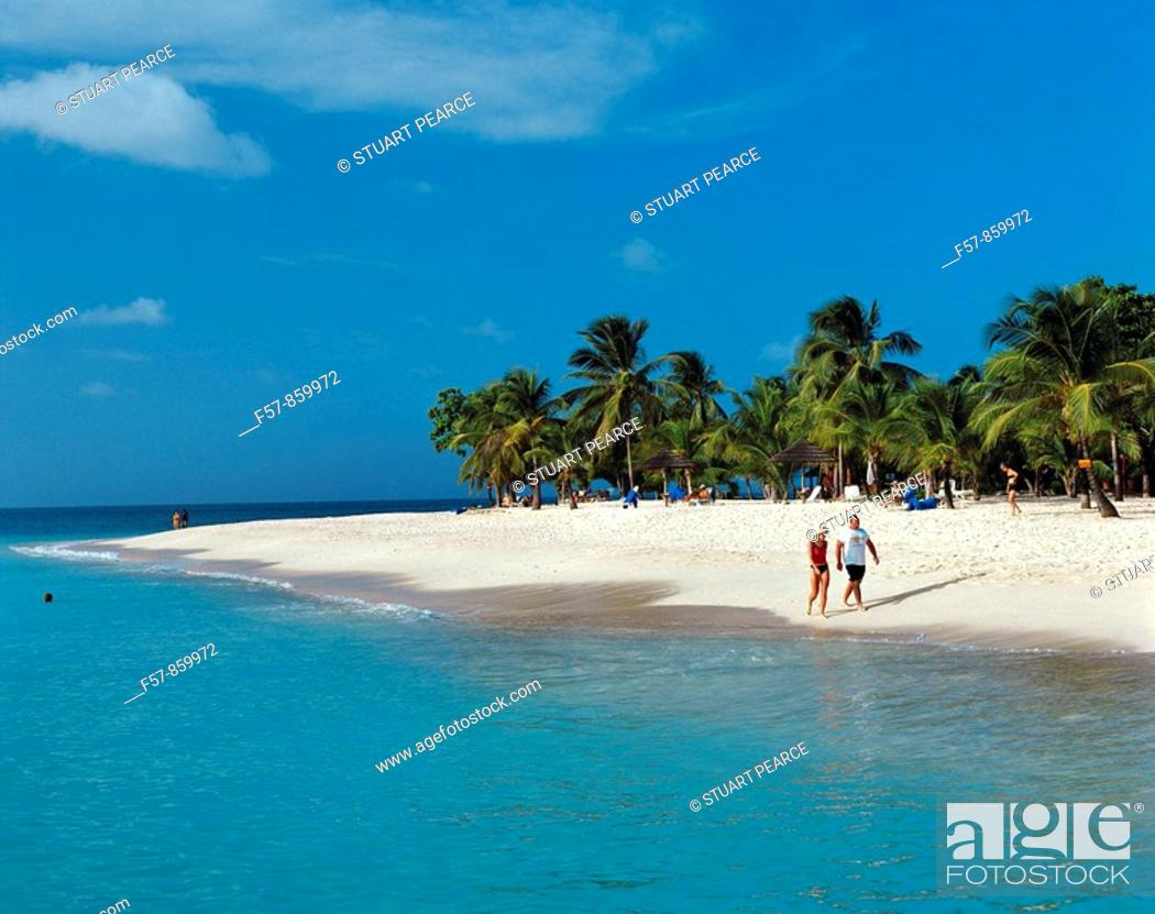 Stock Photo: Palm Island, Grenadines, Caribbean.