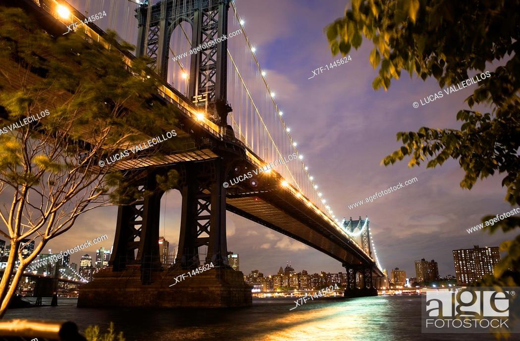 Stock Photo: Manhattan bridge,New York City, USA.