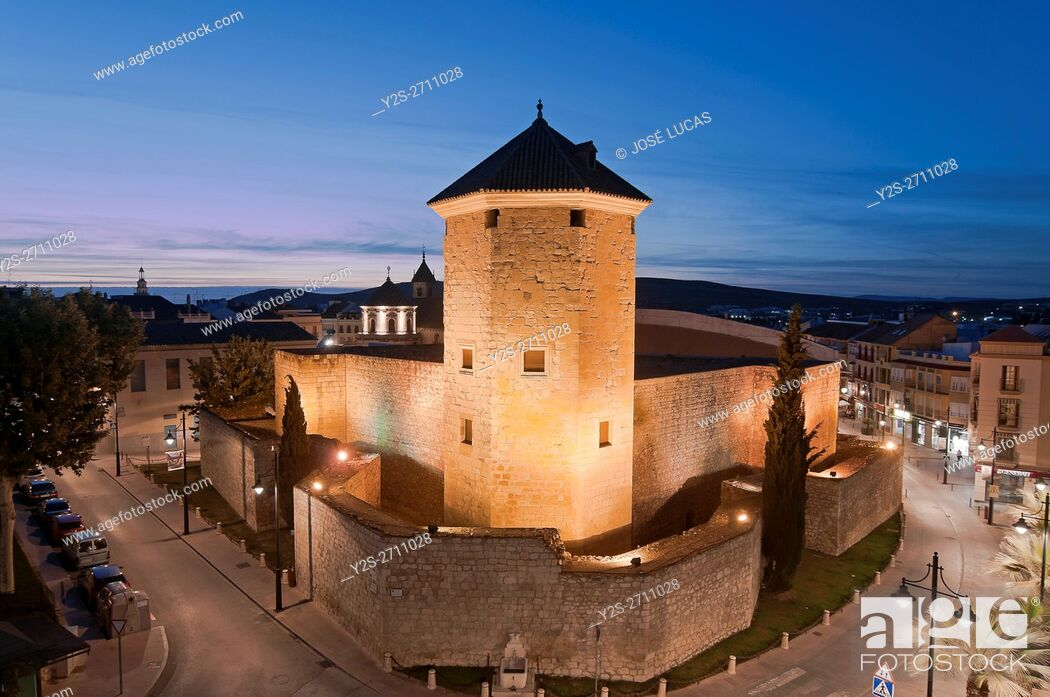 Stock Photo: The Moral Castle - 11th century, Lucena, Cordoba province, Region of Andalusia, Spain, Europe.