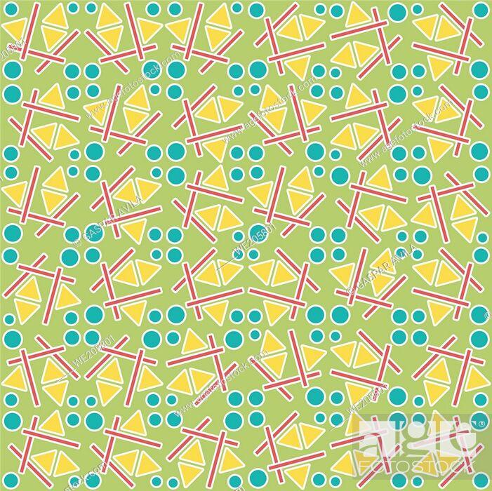 Vecteur de stock: Three shapes pattern on a light green background. Geometric pattern.