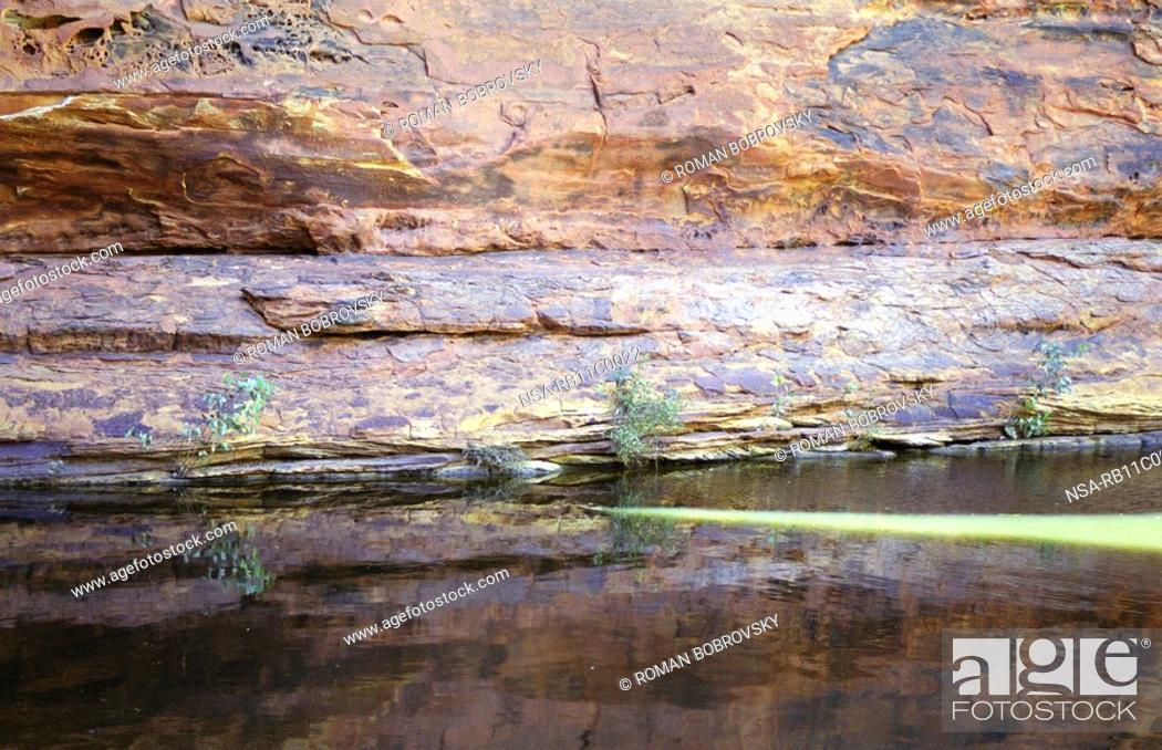 Stock Photo: Water place at Kings Canyon.