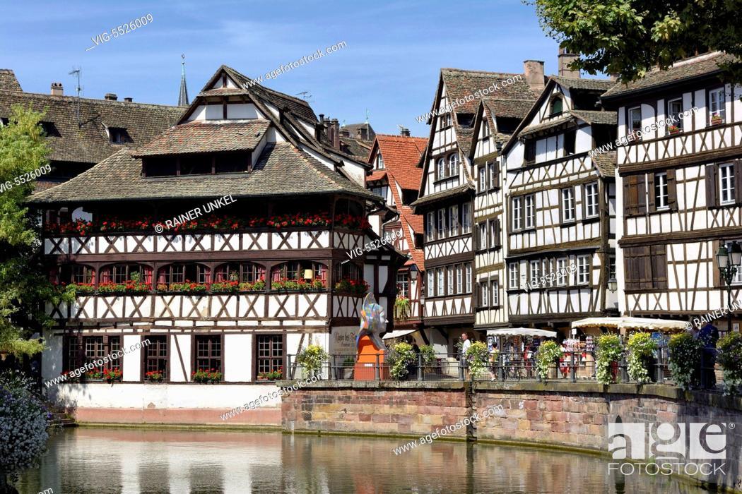 Stock Photo: FRA , FRANCE : La Petite France in Strasbourg , 16.08.2016 - Strasbourg, Alsatia, France, 16/08/2016.