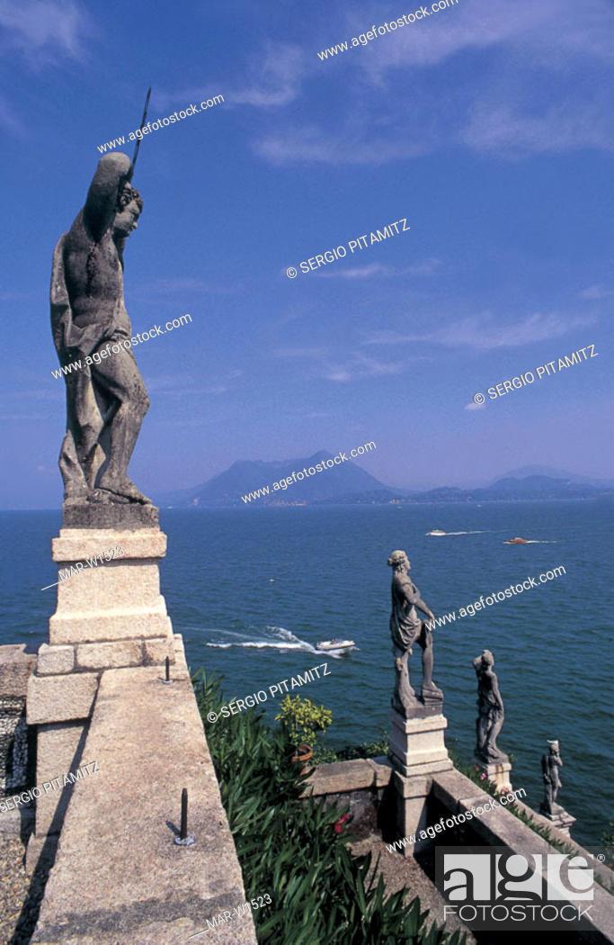 Stock Photo: italy, piemonte, isola bella, lago maggiore.