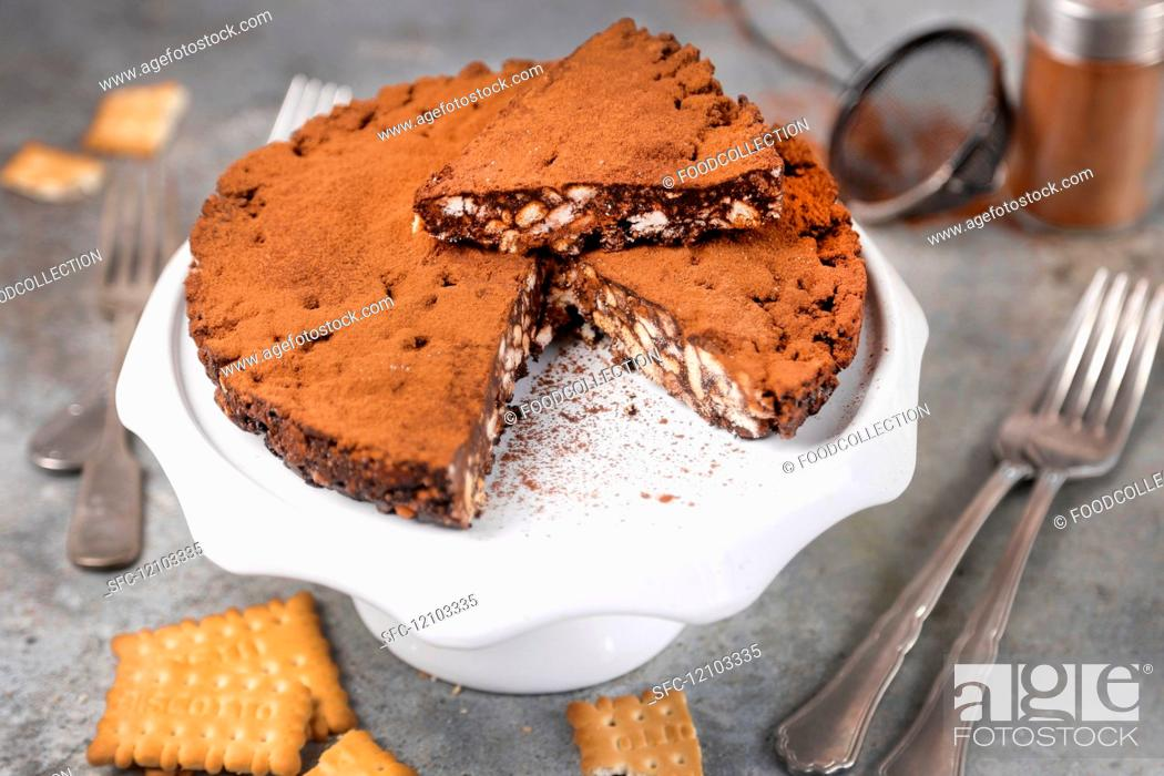 Imagen: cocoa cake and biscuits without baking.