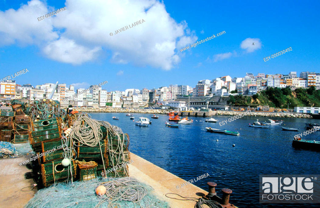 Stock Photo: Fishing port. Malpica. Costa da Morte. La Coruña province. Galicia. Spain.