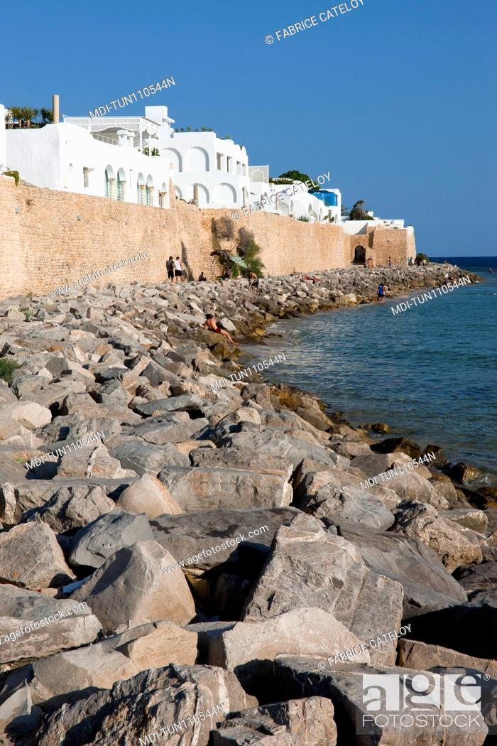 Imagen: Tunisia - Hammamet - The medina from the seaside.