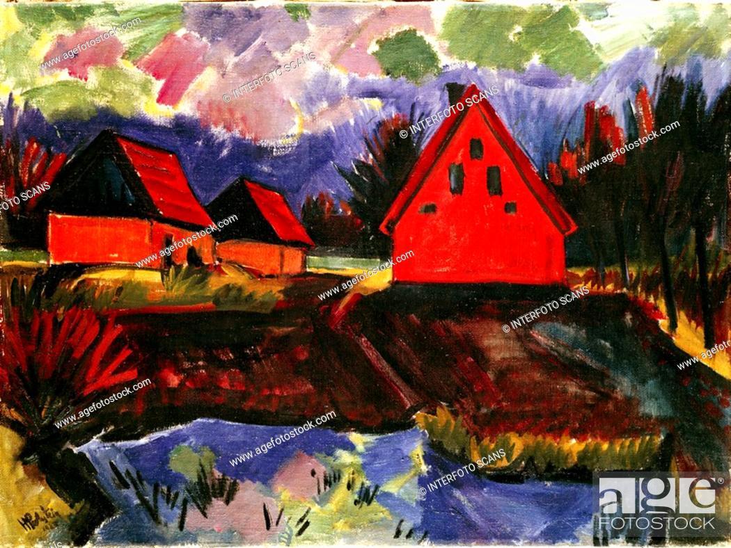 Rote Häuser Bilder ü kunst pechstein max 31 12 1881 29 6 1955 gemälde rote