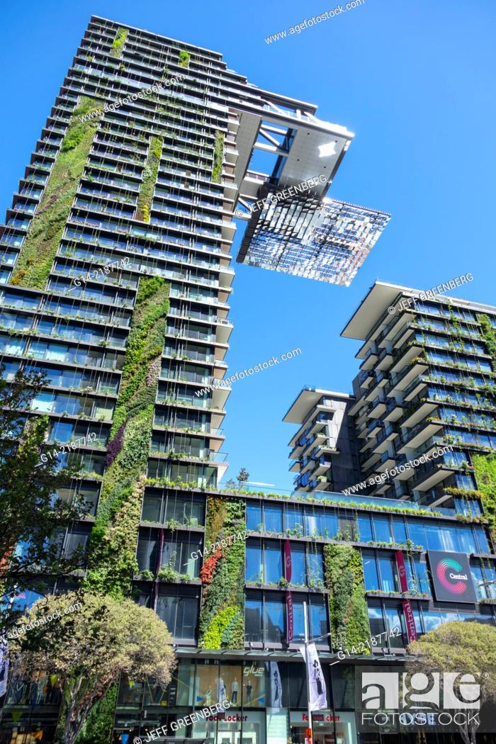 Stock Photo Australia Sydney View Of One Central Park Apartment Building Complex