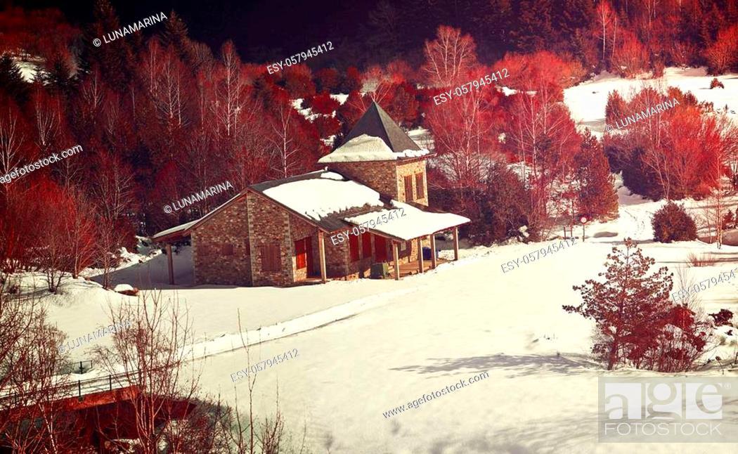 Stock Photo: Benasque Vallibierna valley at Pyrenees in Spain Huesca.