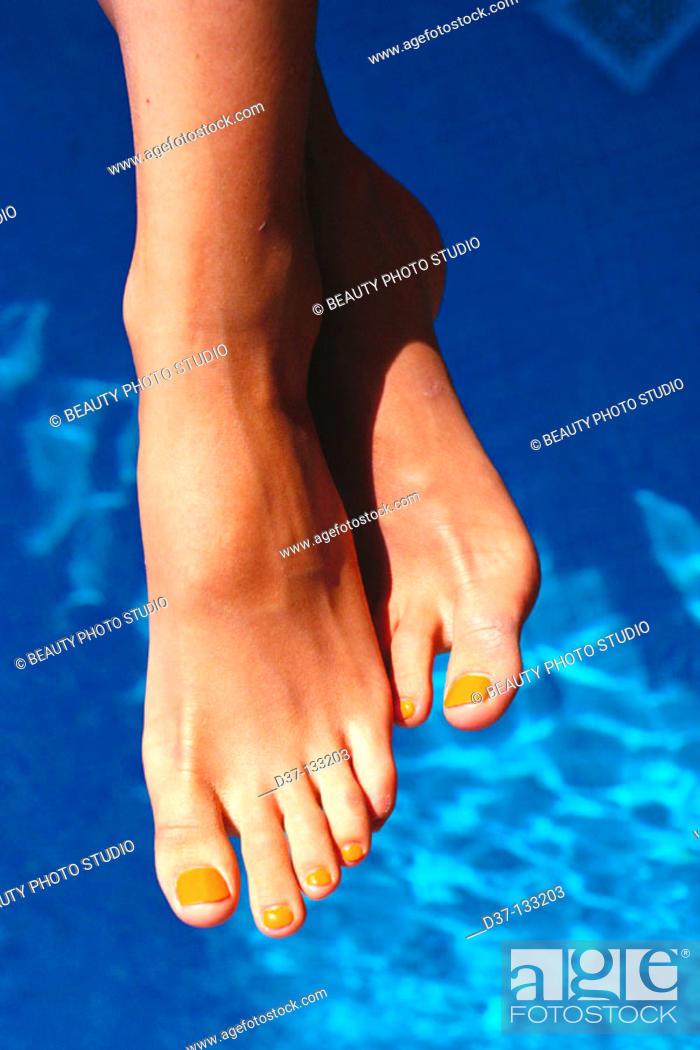 Stock Photo: Woman's feet.