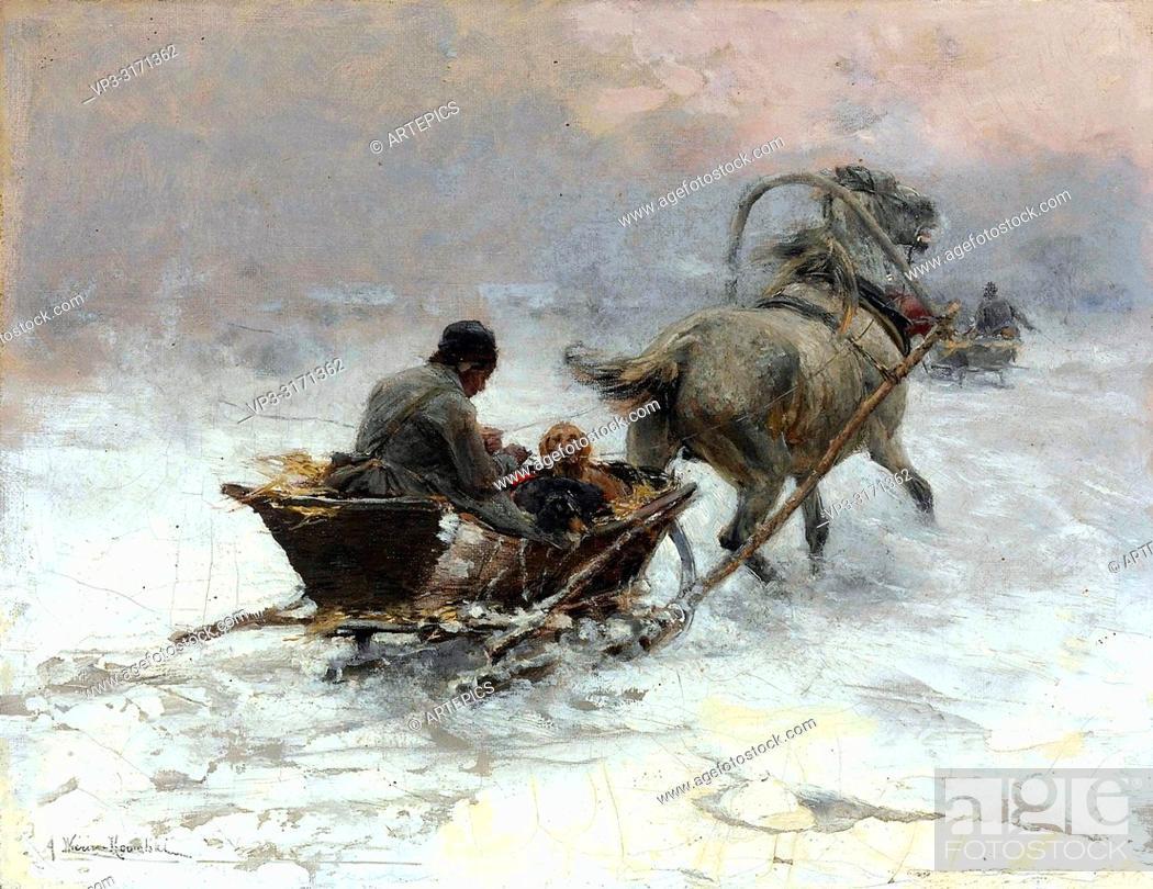 Wierusz Kowalski Alfred Sleigh Ride 3 Foto De Stock