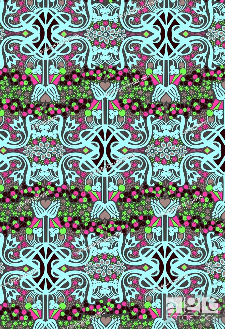 Stock Photo: Colorful intricate design.