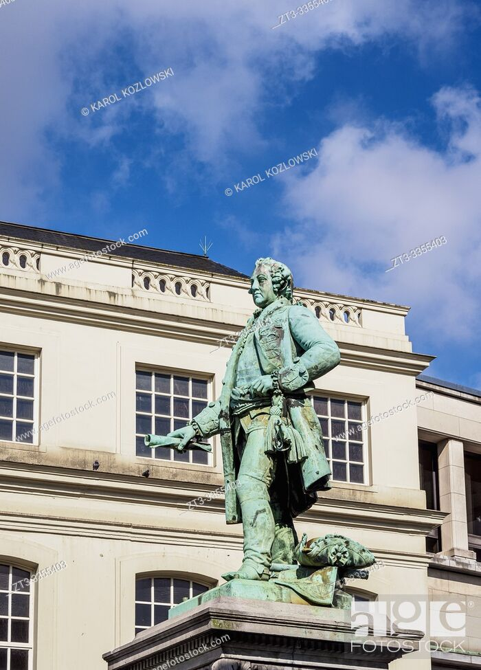 Photo de stock: Statue of Charles de Lorraine, Brussels, Belgium.